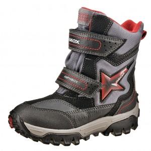 Dětská obuv GEOX J Himalaya ABX   /black/red - Boty a dětská obuv