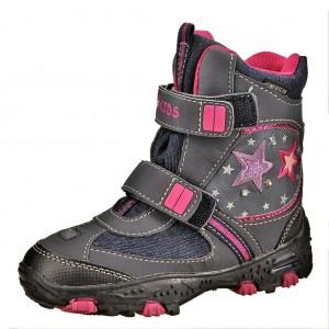 Dětská obuv BB Kids Flock V blinky  /marine/lila - Boty a dětská obuv