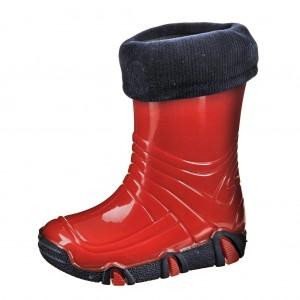 Dětská obuv Gumovky zateplené červené -  Zimní