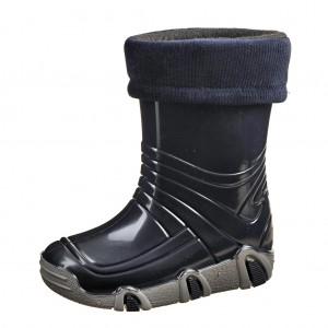 Dětská obuv Gumovky zateplené modré -  Zimní