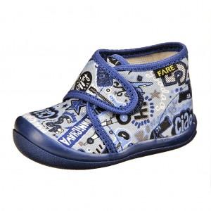 Dětská obuv FAREčky   /modré na suchý zip -