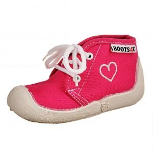 """Dětská obuv Boots4U Plátěnky růžové """"Srdce"""" *BF - Boty a dětská obuv"""