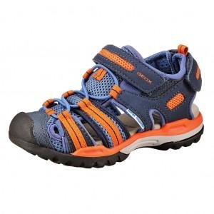 Dětská obuv GEOX Borealis  /navy/orange - Boty a dětská obuv