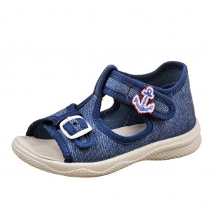 Dětská obuv Domácí sandálky Superfit 2-00292-80 -  První krůčky
