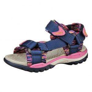Dětská obuv GEOX J Borealis  /navy/fuxia - Boty a dětská obuv