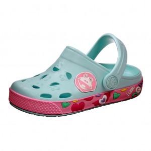 Dětská obuv Coqui   /pastelblue/pink -  Sandály