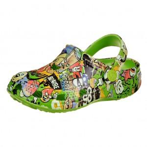 Dětská obuv Coqui   /lime potisk - Boty a dětská obuv