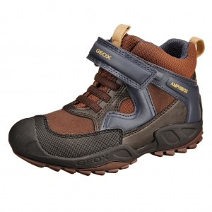 Dětská obuv GEOX J Savage B   /brown/navy - X...SLEVY  SLEVY  SLEVY...X
