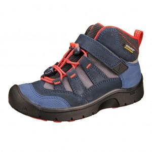 Dětská obuv KEEN Hikeport MID WP  /dress blues/firey red -  Celoroční