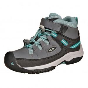 Dětská obuv KEEN Targhee MID WP  /steel grey/wasabi -  Sportovní