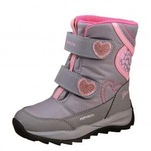 Dětská obuv GEOX J Orizont    /grey/pink - Boty a dětská obuv
