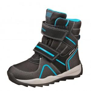 Dětská obuv GEOX J Orizont    /black/royal - Boty a dětská obuv