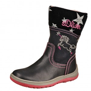 Dětská obuv s'Oliver kozačky 36406 /navy - Boty a dětská obuv