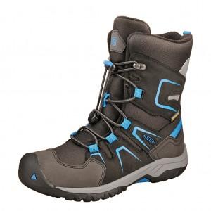 Dětská obuv KEEN Levo Winter  WP  /black/baleine blue - Boty a dětská obuv