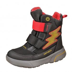 Dětská obuv GEOX J Sveggen /black/red - Boty a dětská obuv