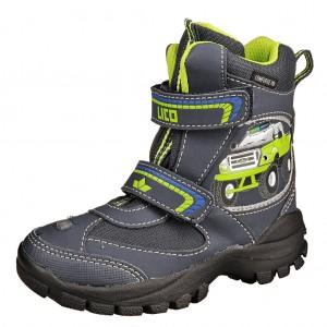 Dětská obuv LICO Snowtruck V blinky  /marine/lemon - Boty a dětská obuv