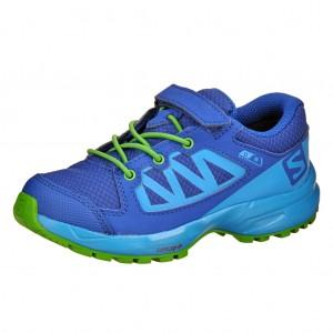 Dětská obuv Salomon XA Elevate CSWP K  /blue - Boty a dětská obuv