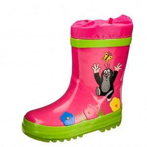 Dětská obuv Gumovky s krtkem růžové - Gumovky