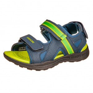 Dětská obuv GEOX Gleeful  /navy/lime - Boty a dětská obuv