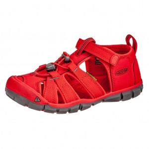 Dětská obuv KEEN Seacamp   /fiery red -  Sandály