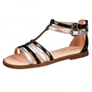 Dětská obuv GEOX J S.Karly /black/silver - Boty a dětská obuv