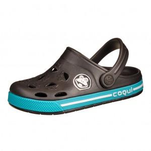 Dětská obuv Coqui   /antracit/turqouise - Boty a dětská obuv