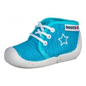 Dětská obuv Boots4U Plátěnky tyrkys *BF -  První krůčky