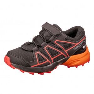 Dětská obuv Salomon Speedcross CSWP K  /black -  Sportovní