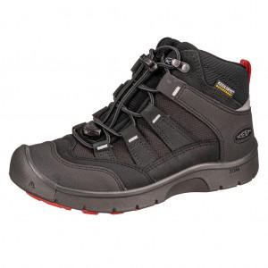 Dětská obuv KEEN Hikeport MID WP  /back/bright red -  Sportovní