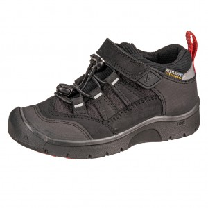 Dětská obuv KEEN Hikeport WP  /black/bright red -  Sportovní