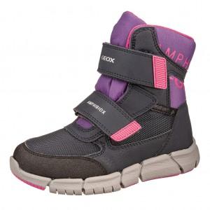 Dětská obuv GEOX J Flexyper G   /navy/violet - Boty a dětská obuv