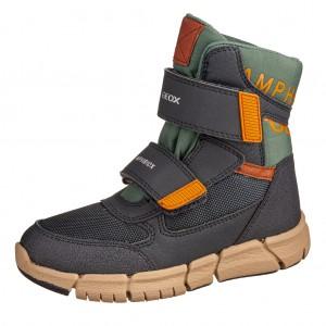 Dětská obuv GEOX J Flexyper B   /navy/orange - Boty a dětská obuv