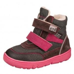 Dětská obuv KTR K006   /šedá/fuchsia - Boty a dětská obuv