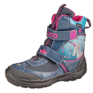 Dětská obuv LICO Magic V blinky /marine/türkis/pink - Boty a dětská obuv