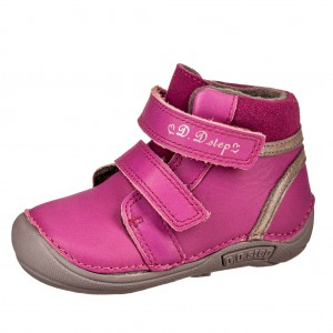 Dětská obuv D.D.Step 018-42A  Dark pink - Boty a dětská obuv