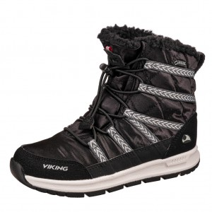 Dětská obuv VIKING FLINGA JR GTX   /black/white -