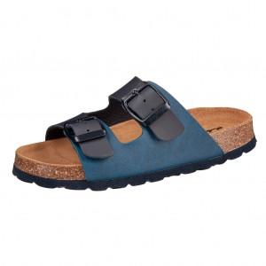 Dětská obuv Domácí obuv Lurchi Oliver marine -  Na doma a do škol(k)y