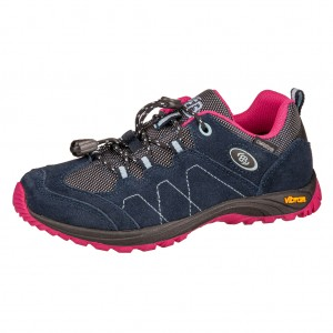 Dětská obuv Brütting Bergen Low  /marine/pink/blau -  Do hor nebo nížin