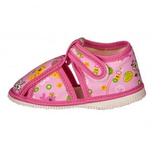 Dětská obuv Přezůvky RAK růžové -  Na doma a do škol(k)y