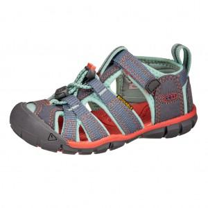Dětská obuv KEEN Seacamp   /flint stone/ocean wave - Boty a dětská obuv
