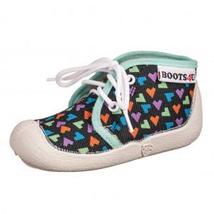 Dětská obuv Boots4U Plátěnky tmavý potisk  *BF - Boty a dětská obuv