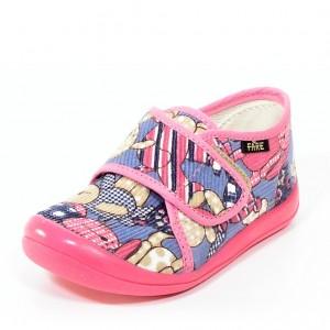 Dětská obuv FAREčky   /růžoví medvědi suchý zip -
