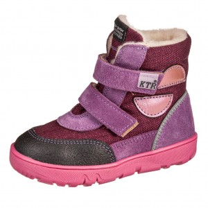 Dětská obuv KTR K012   /fialová TEX - Zimní