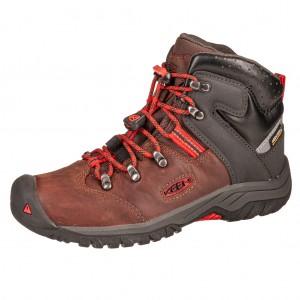 Dětská obuv KEEN Torino II MID WP   /tortoise shell/fiery red - Boty a dětská obuv