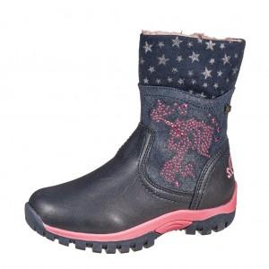 Dětská obuv s'Oliver kozačky 36427 /navy - Boty a dětská obuv