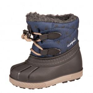 Dětská obuv Coqui sněhule Bergy  navy/bird - Zimní