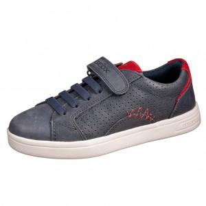 Dětská obuv GEOX J DJROCK b   /navy/red - Boty a dětská obuv
