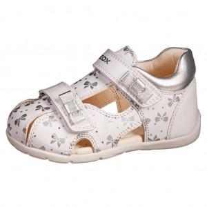 Dětská obuv GEOX B Kaytan G  /white/silver - Boty a dětská obuv