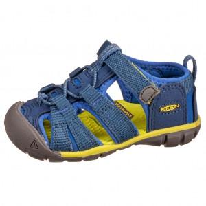 Dětská obuv KEEN Seacamp   /blue depths/chartreuse - Boty a dětská obuv