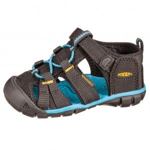 Dětská obuv KEEN Seacamp   /black/keen yellow - Boty a dětská obuv